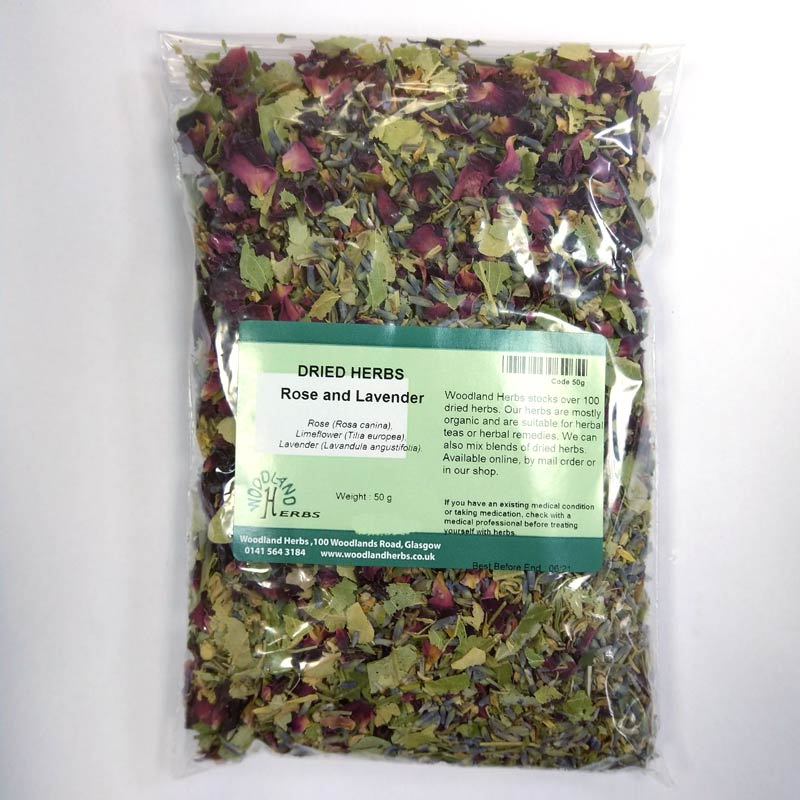 rose lavender  limeflower herbal tea calming herbal tea